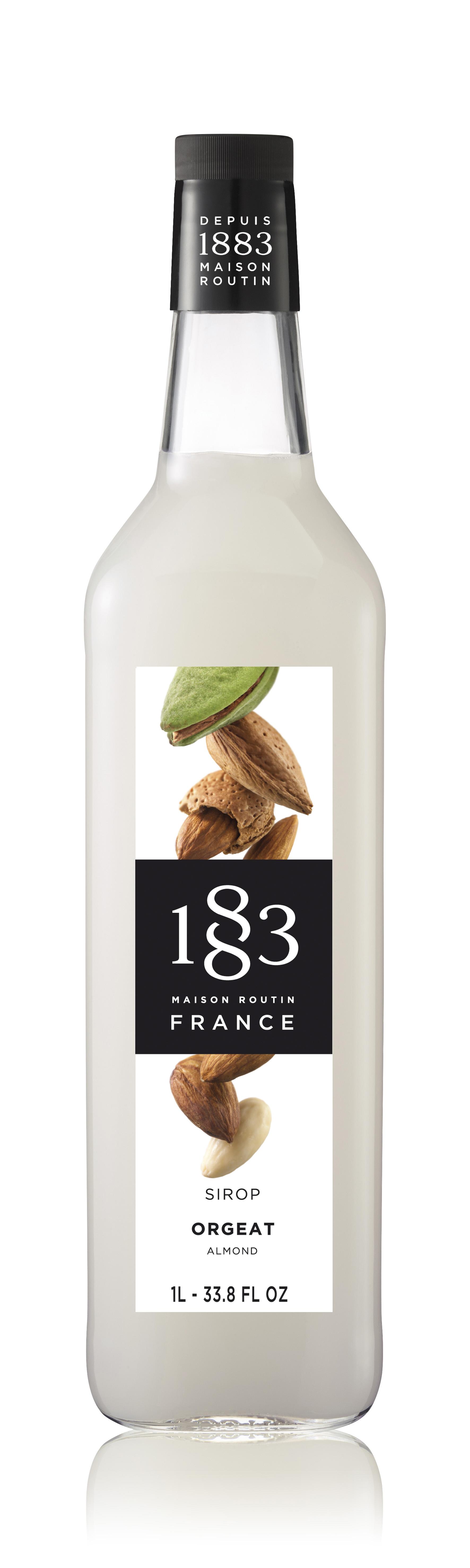 1883 Syrup Almond 1L Glass Bottle