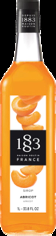 1883 Syrup Apricot 1L Glass Bottle