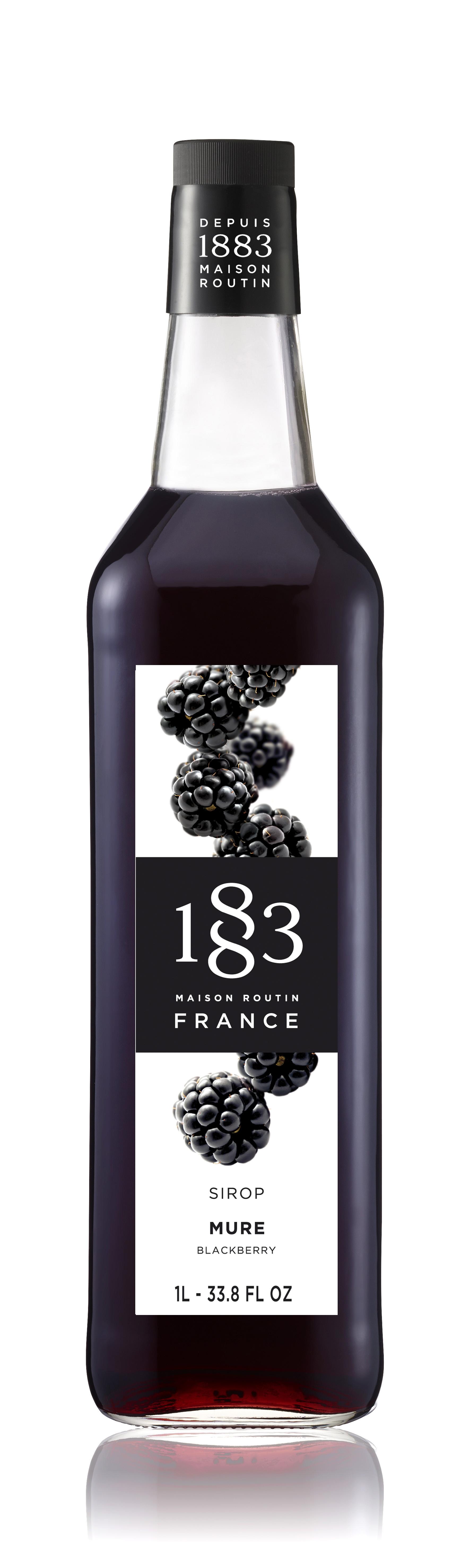 1883 Syrup Blackberry 1L Glass Bottle