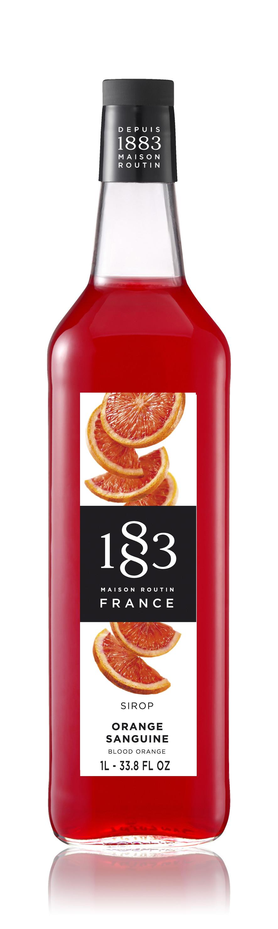 1883 Syrup Blood Orange 1L Glass Bottle