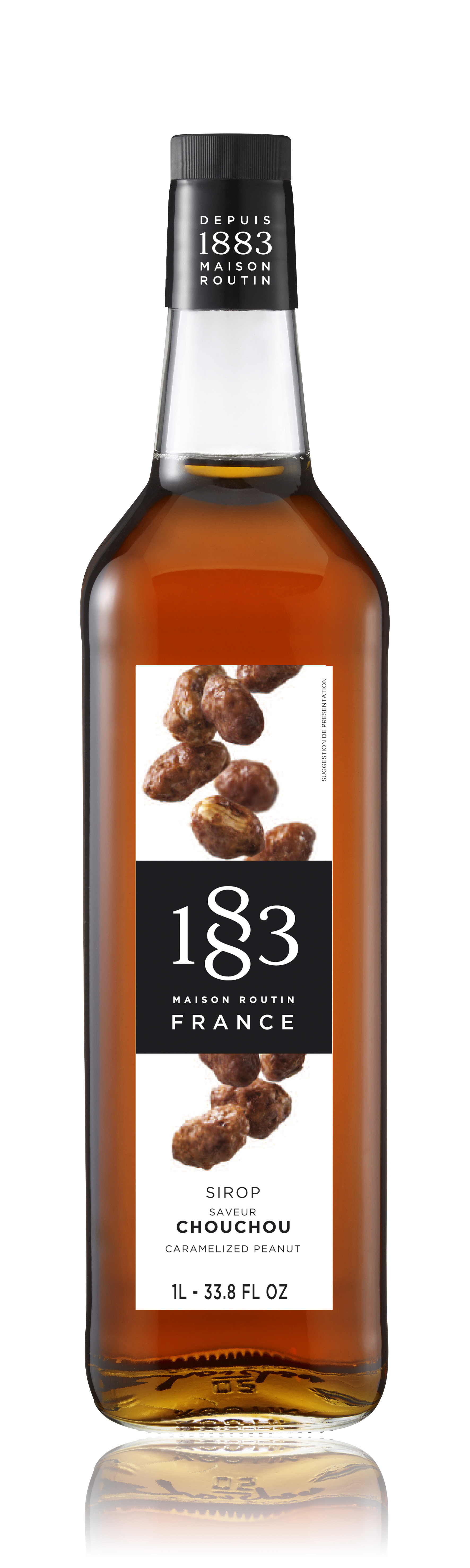 1883 Syrup Caramelised Peanut 1L Glass Bottle