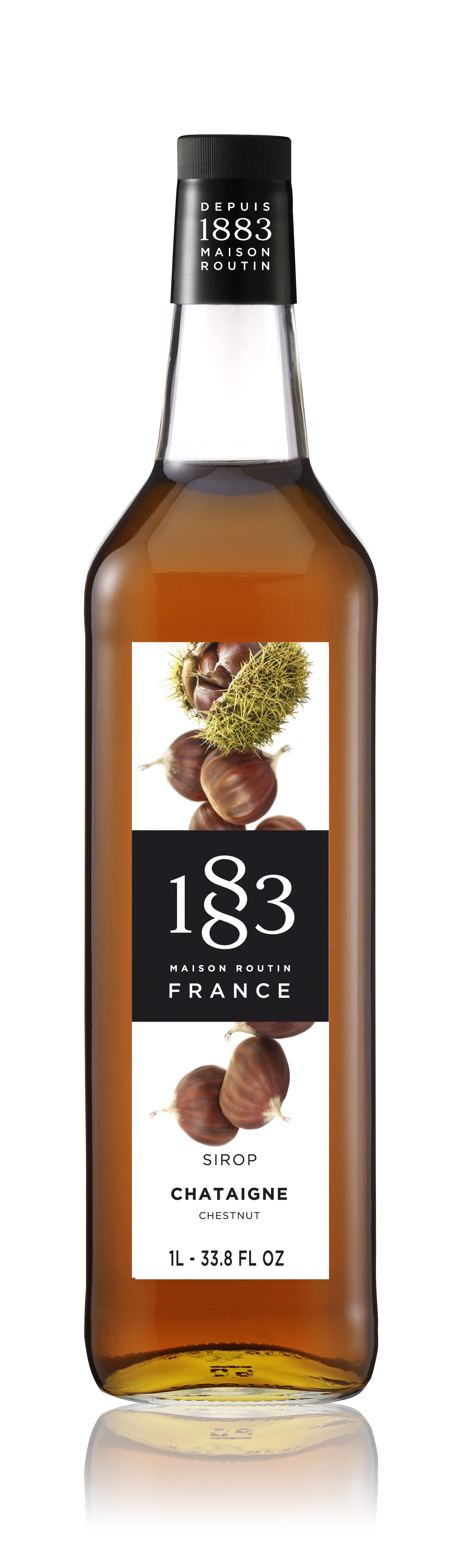 1883 Syrup Chestnut 1L Glass Bottle