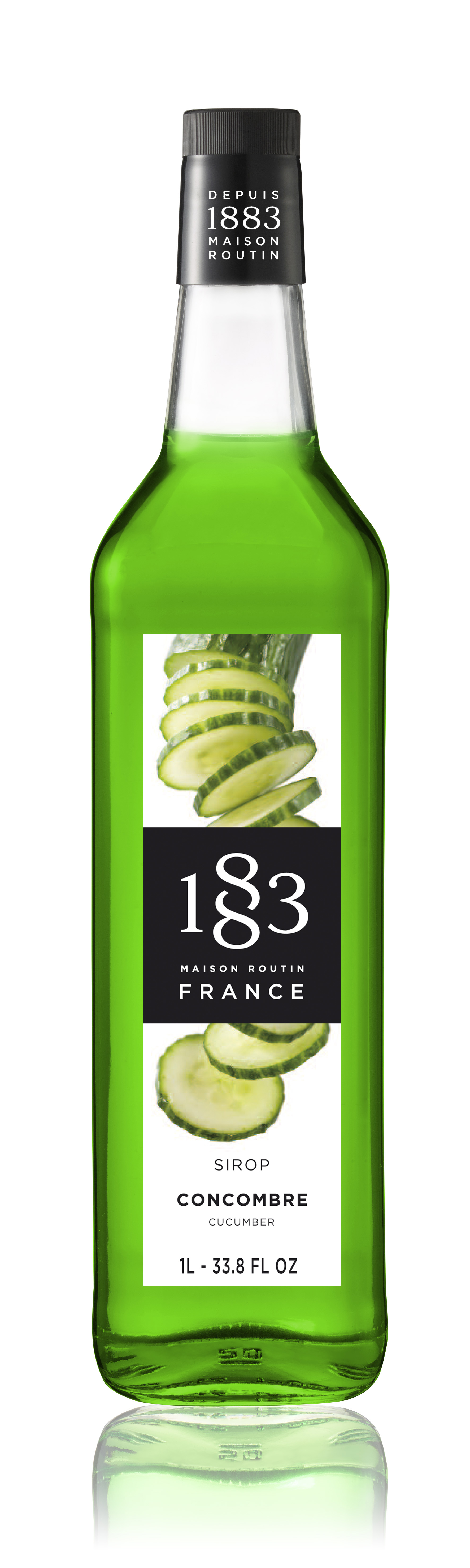 1883 Syrup Cucumber  1L Glass Bottle
