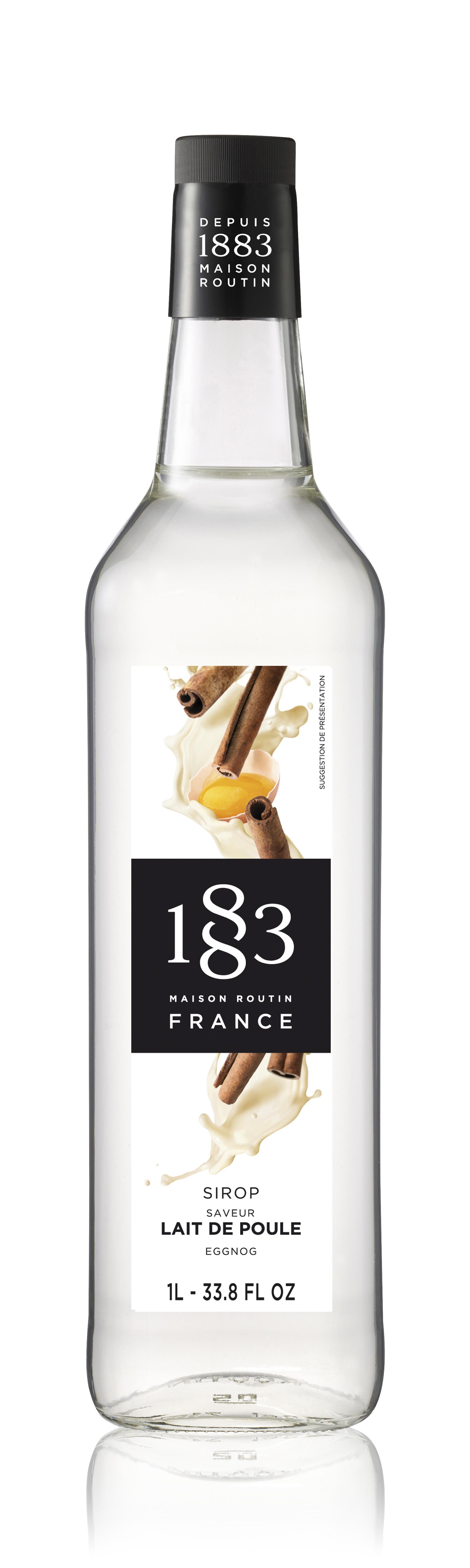 1883 Syrup Eggnog 1L Glass Bottle