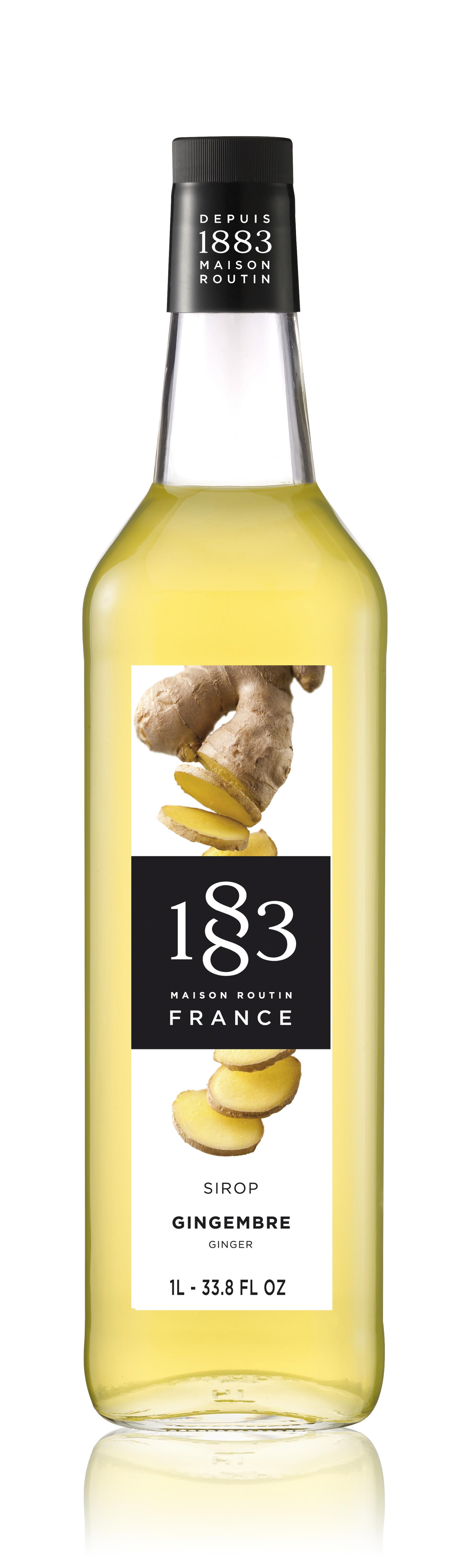1883 Syrup Ginger 1L Glass Bottle