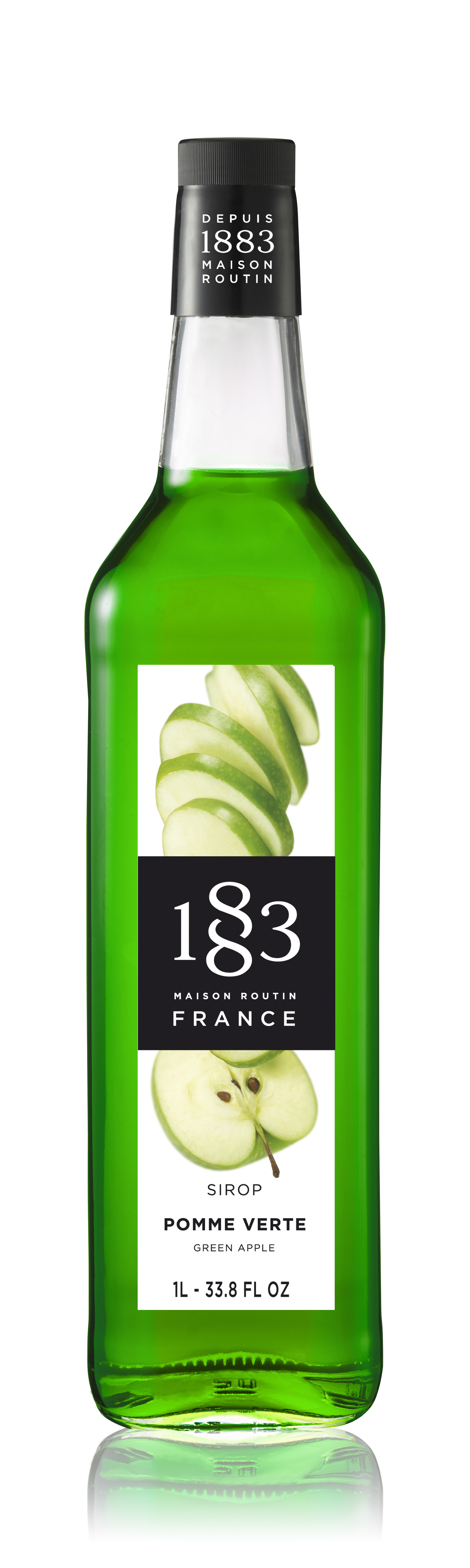 1883 Syrup Green Apple 1L Glass Bottle