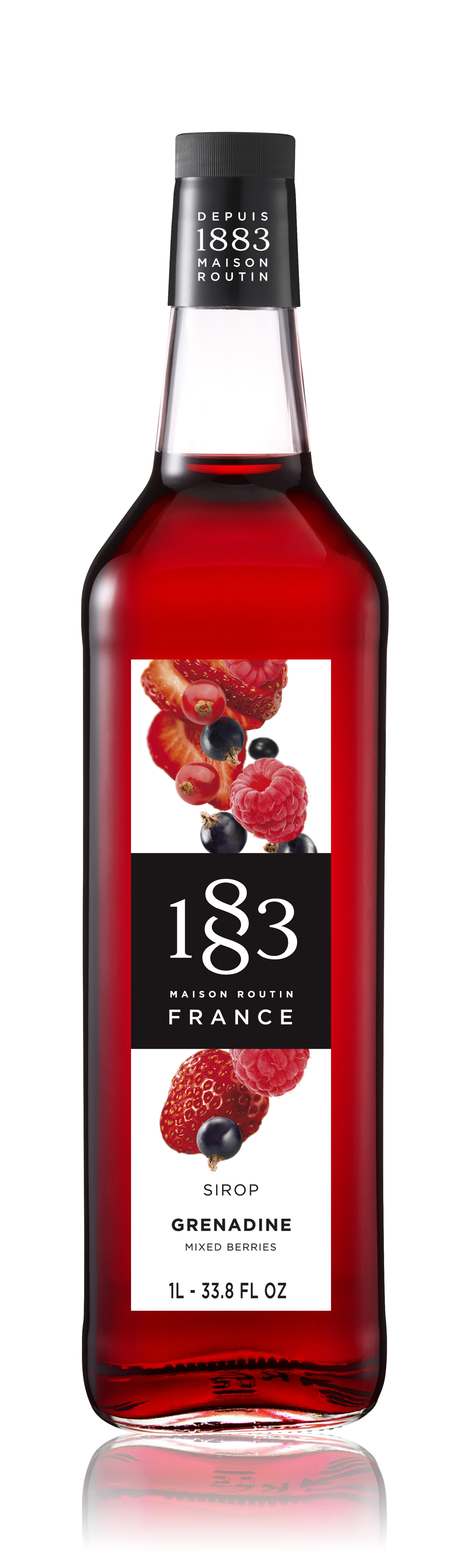 1883 Syrup Mixed Berries / Grenadine 1L Glass Bottle