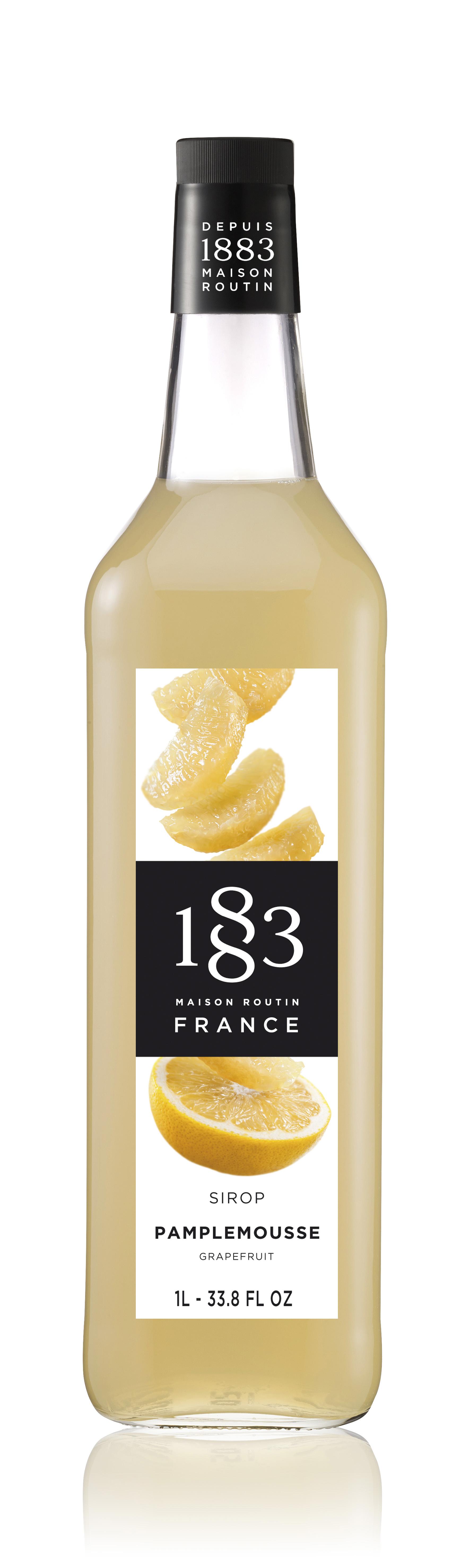1883 Syrup Grapefruit 1L Glass Bottle