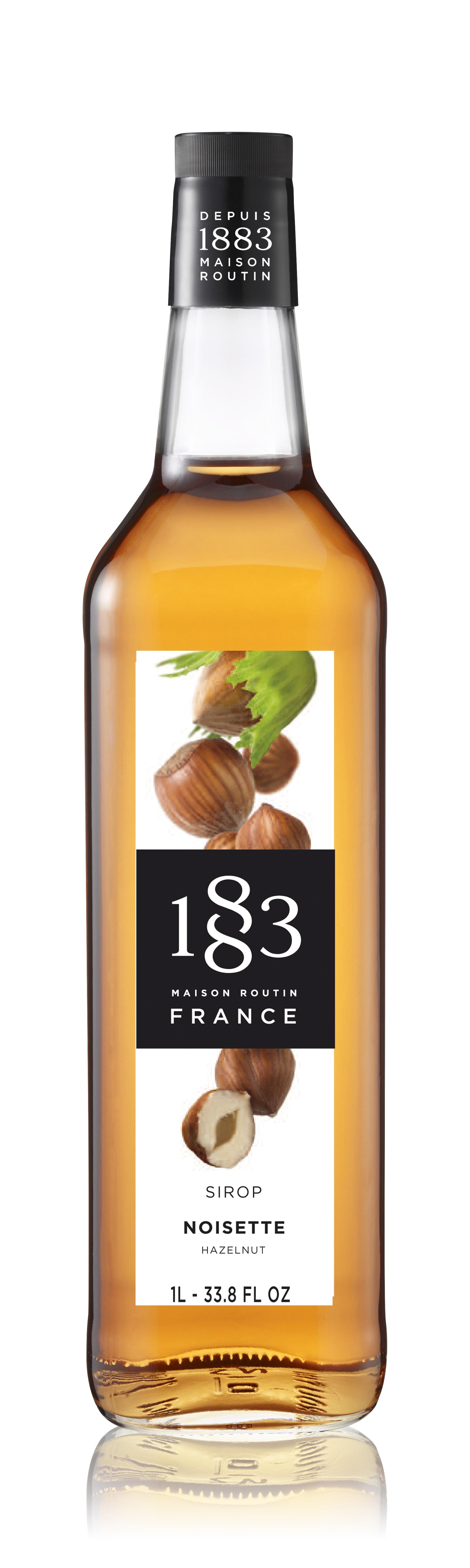 1883 Syrup Hazelnut 1L Glass Bottle