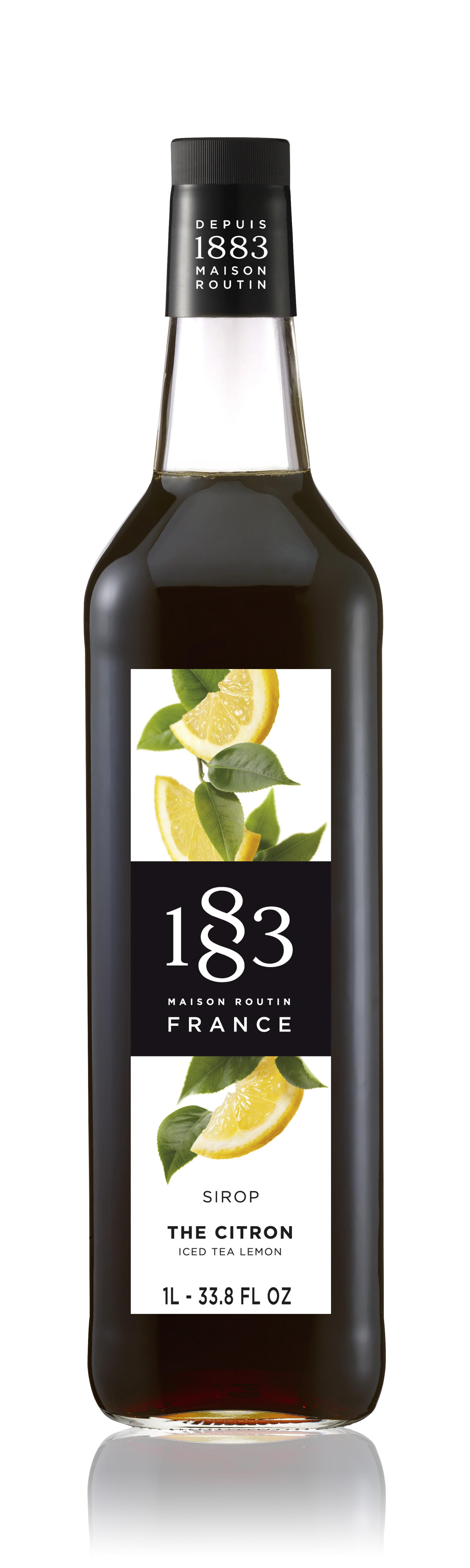 1883 Syrup Iced Tea Lemon 1L Glass Bottle