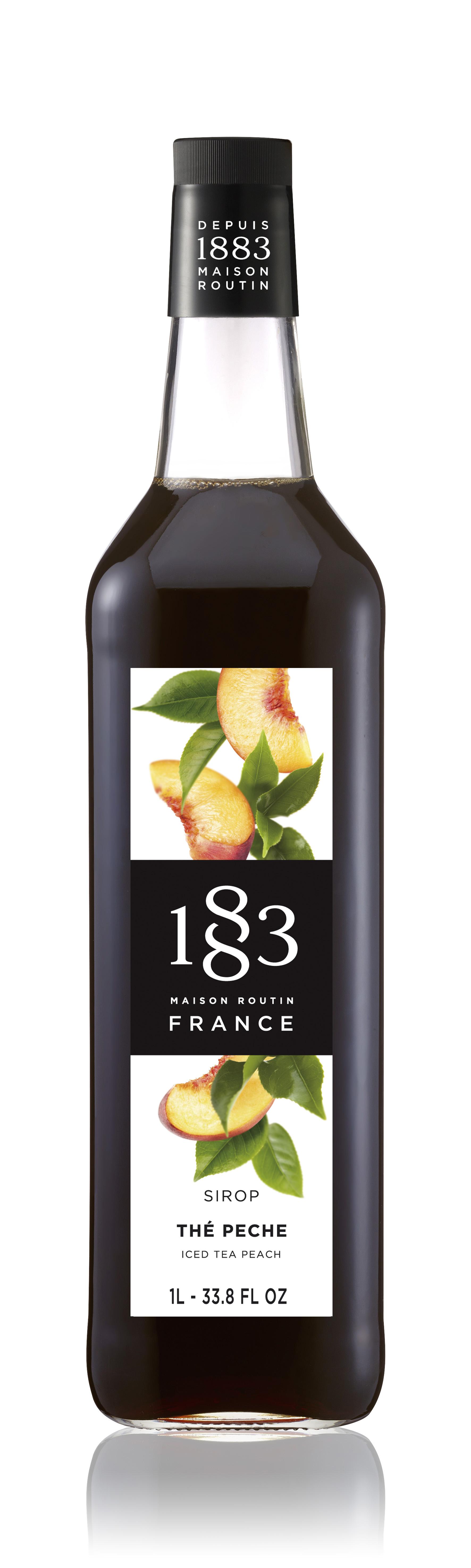 1883 Syrup Iced Tea Peach  1L Glass Bottle