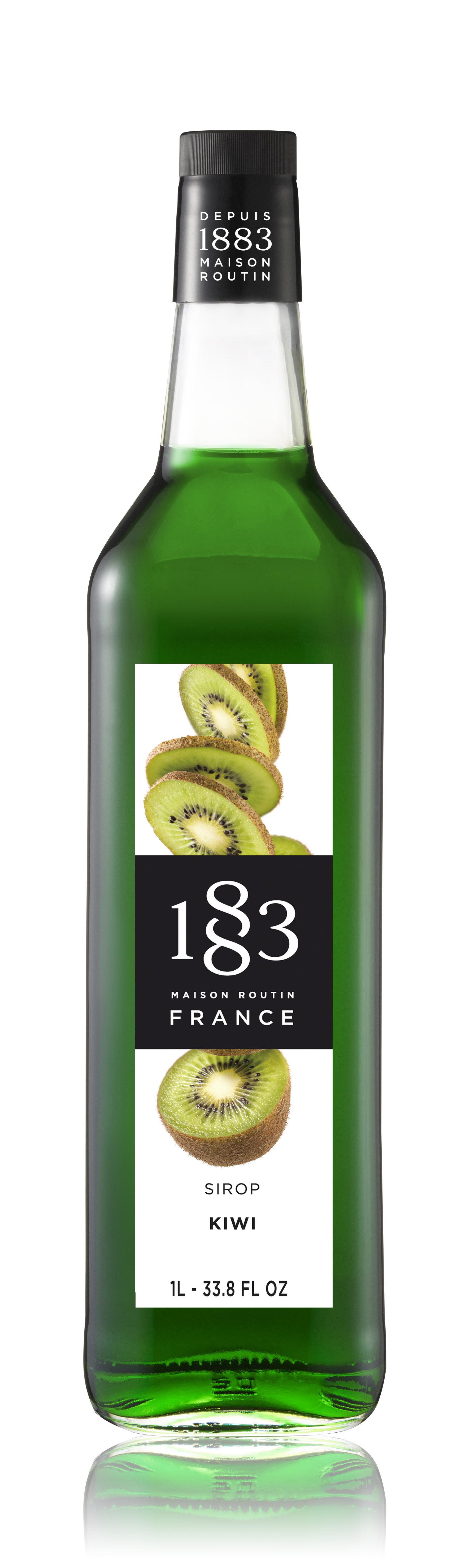 1883 Syrup Kiwi 1L Glass Bottle