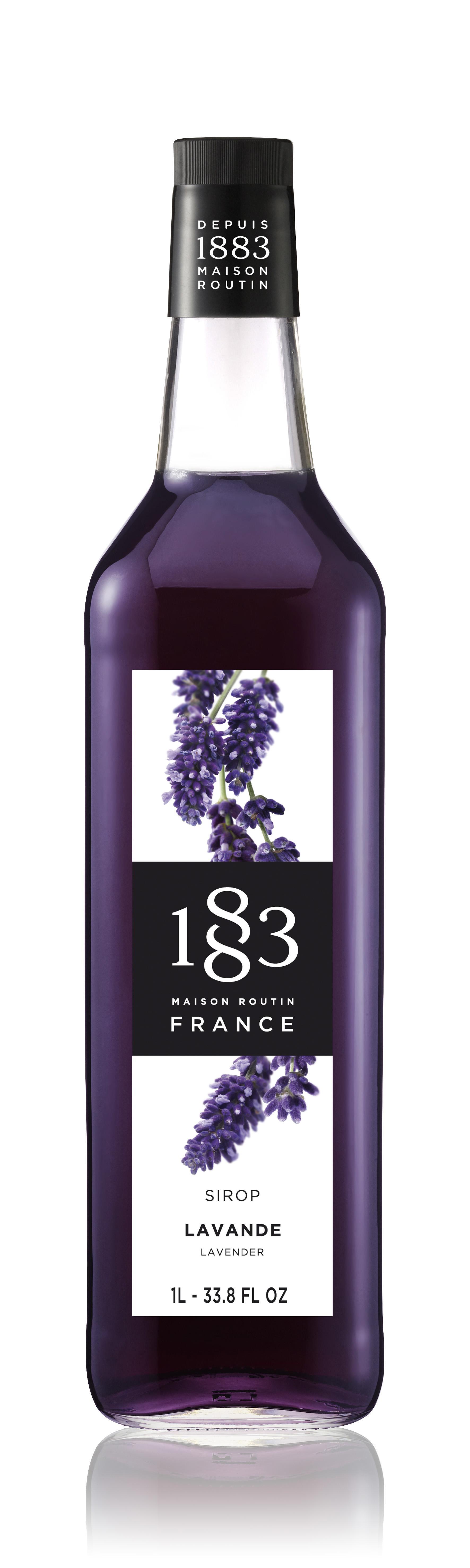1883 Syrup Lavender  1L Glass Bottle