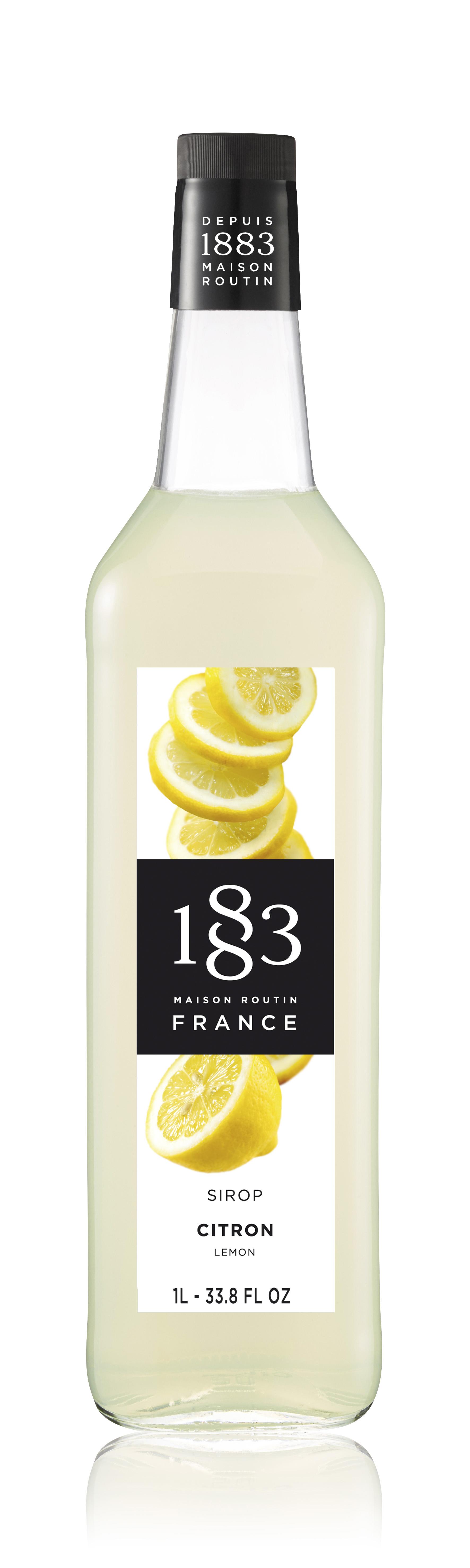 1883 Syrup Lemon 1L Glass Bottle