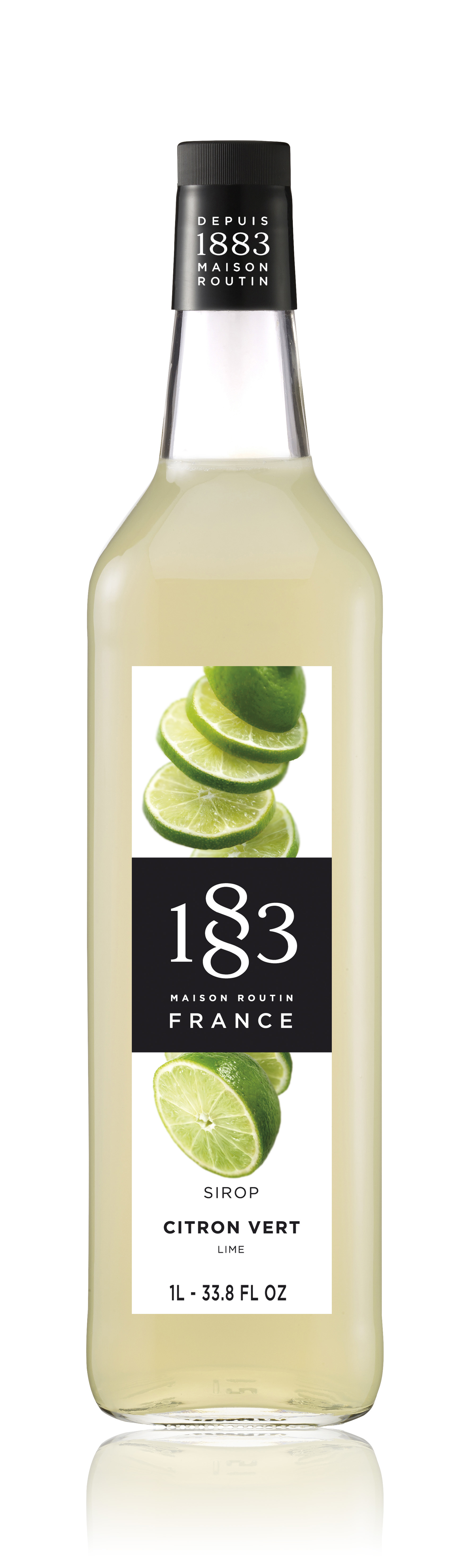 1883 Syrup Lime 1L Glass Bottle