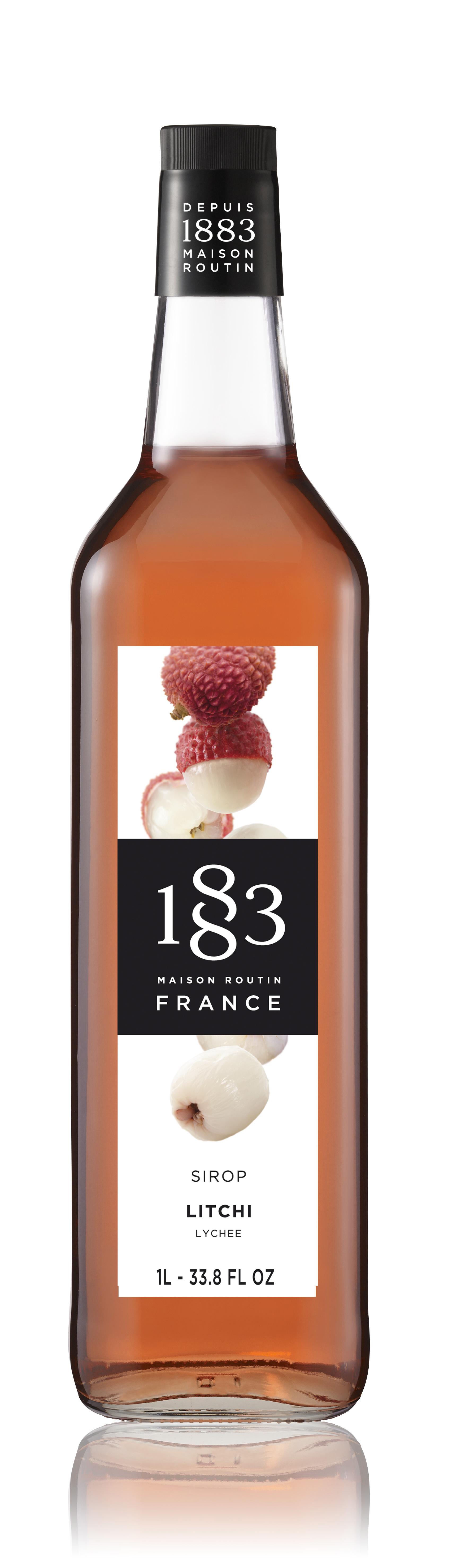 1883 Syrup Lychee  1L Glass Bottle