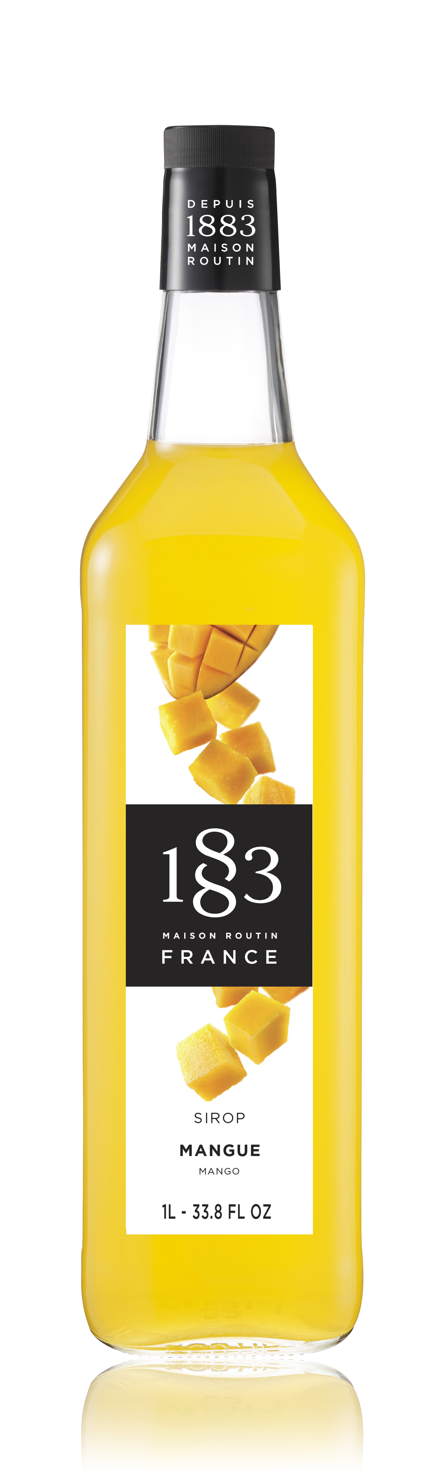 1883 Syrup Mango 1L Glass Bottle