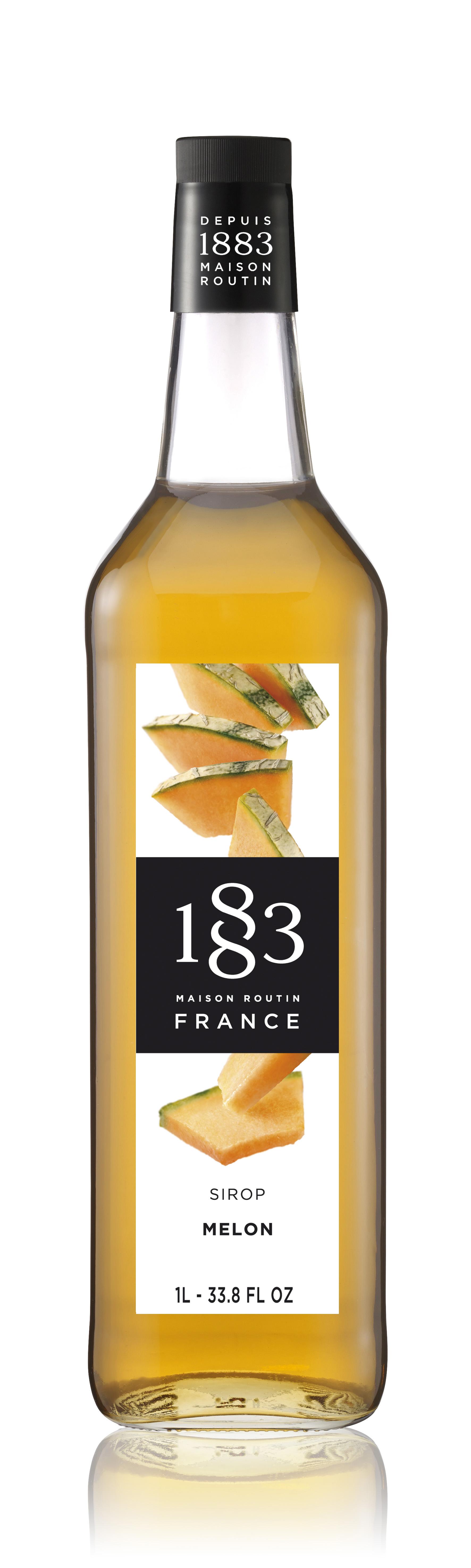 1883 Syrup Melon 1L Glass Bottle