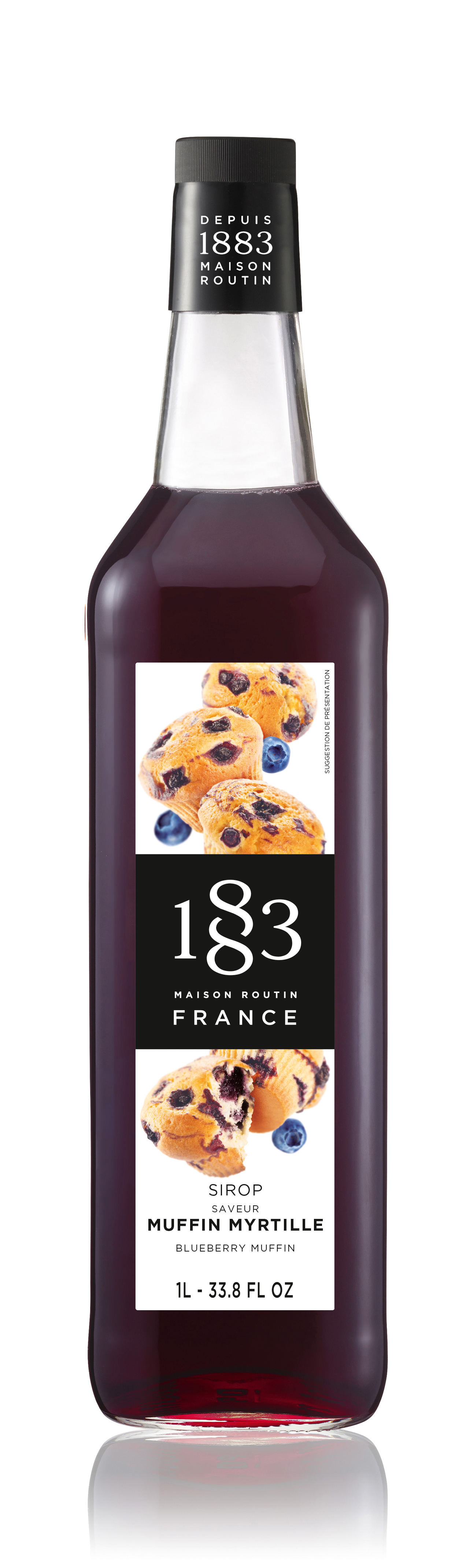 1883 Syrup Blueberry Muffin 1L Glass Bottle