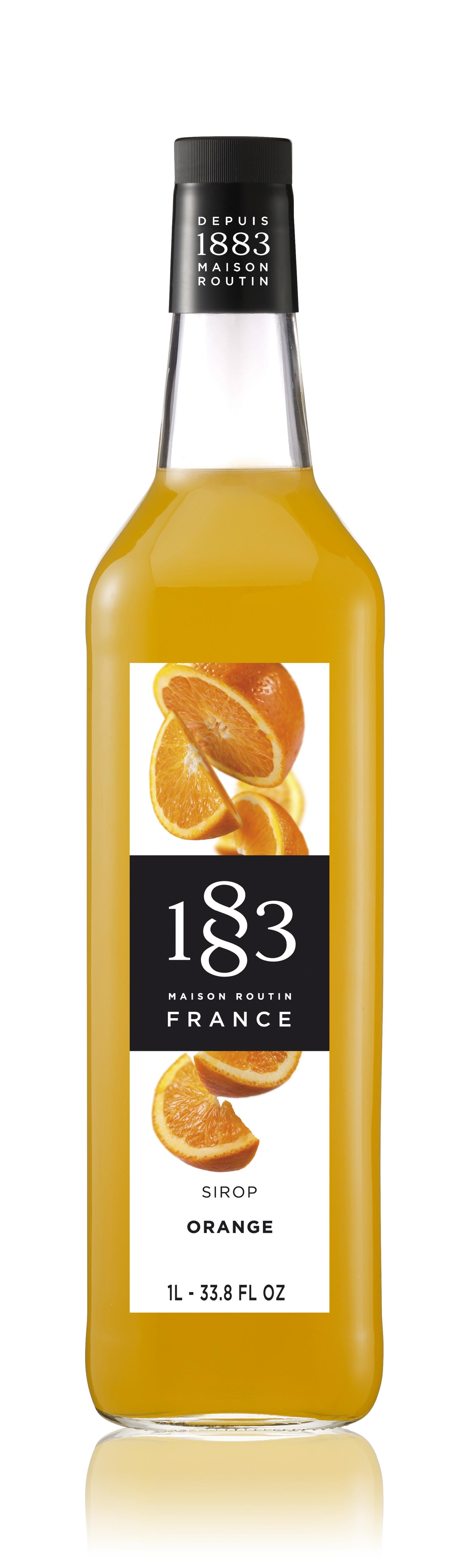 1883 Syrup Orange 1L Glass Bottle