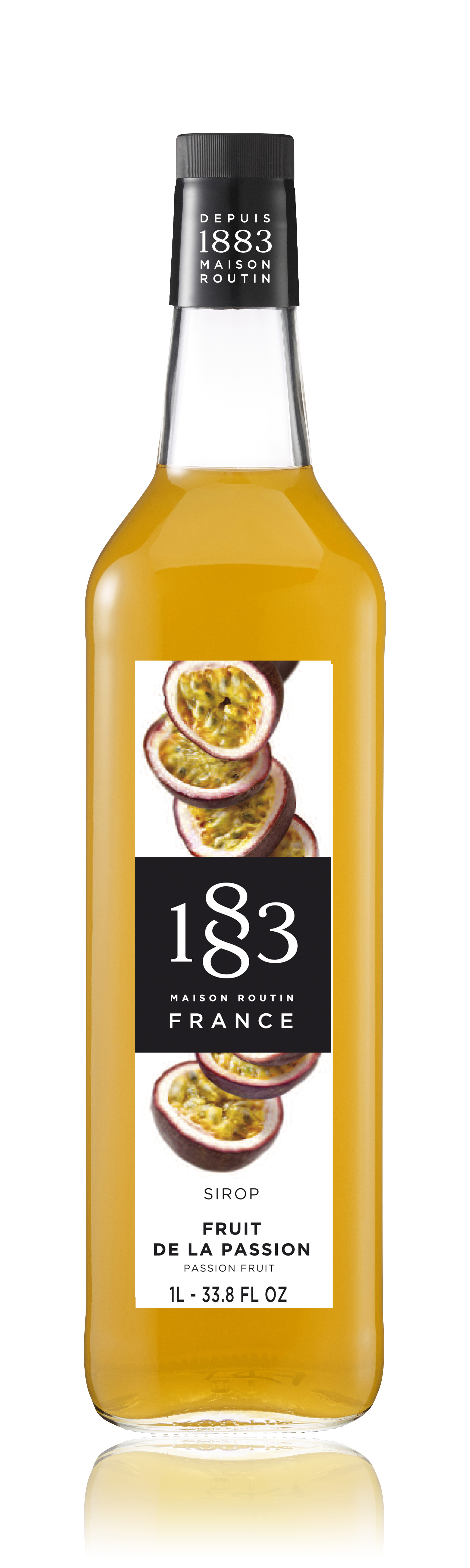 1883 Syrup Passion Fruit 1L Glass Bottle