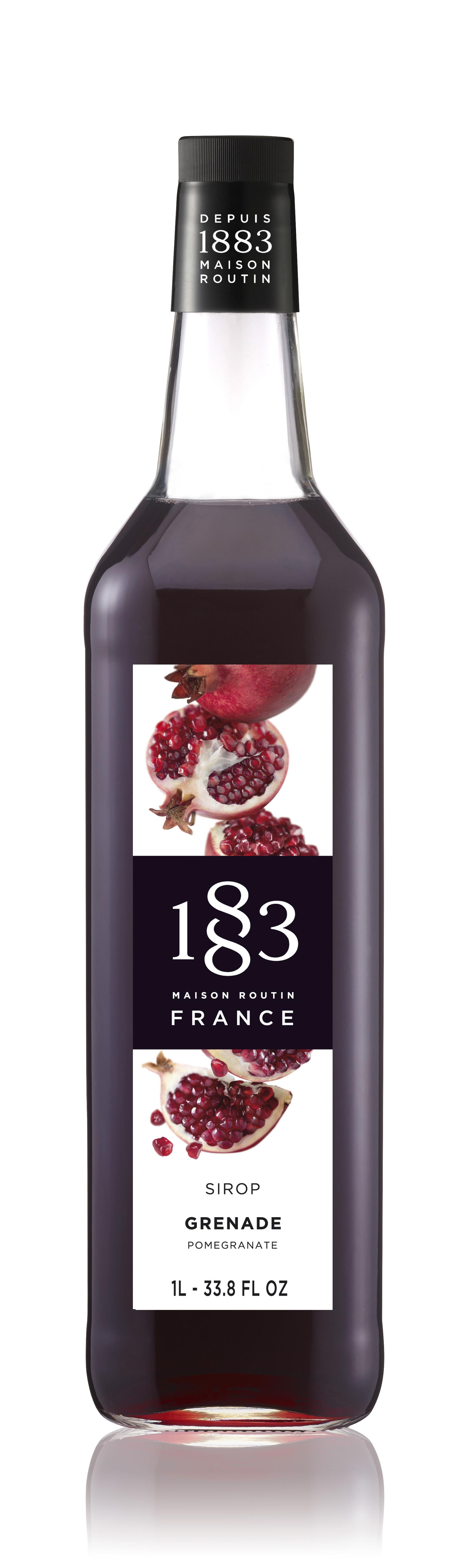 1883 Syrup Pomegranate 1L Glass Bottle