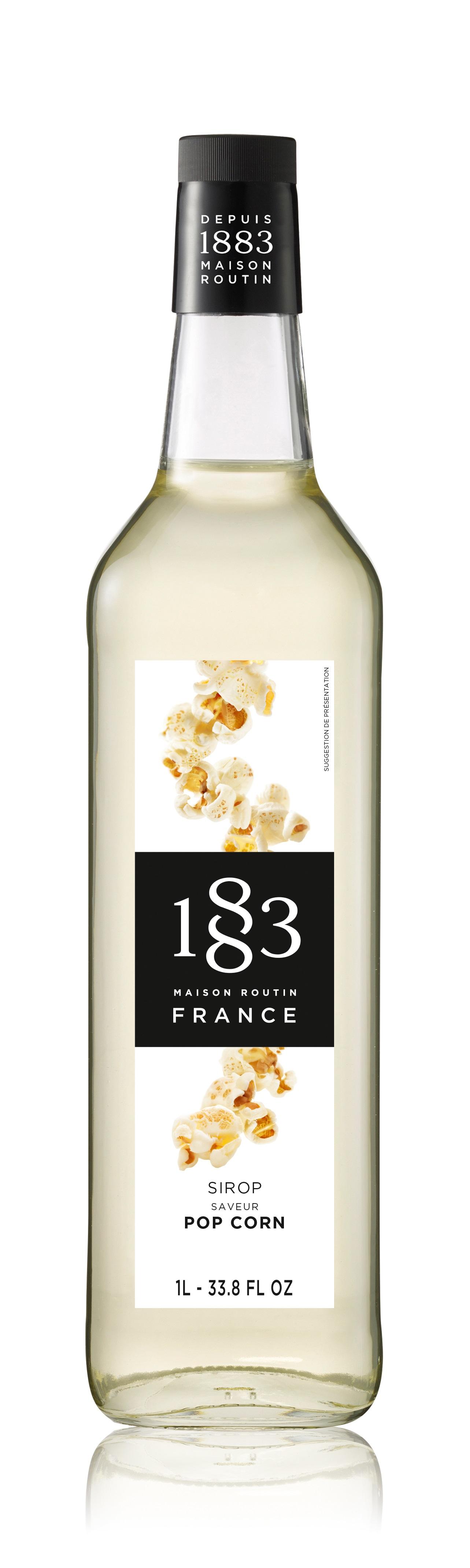 1883 Syrup Popcorn 1L Glass Bottle