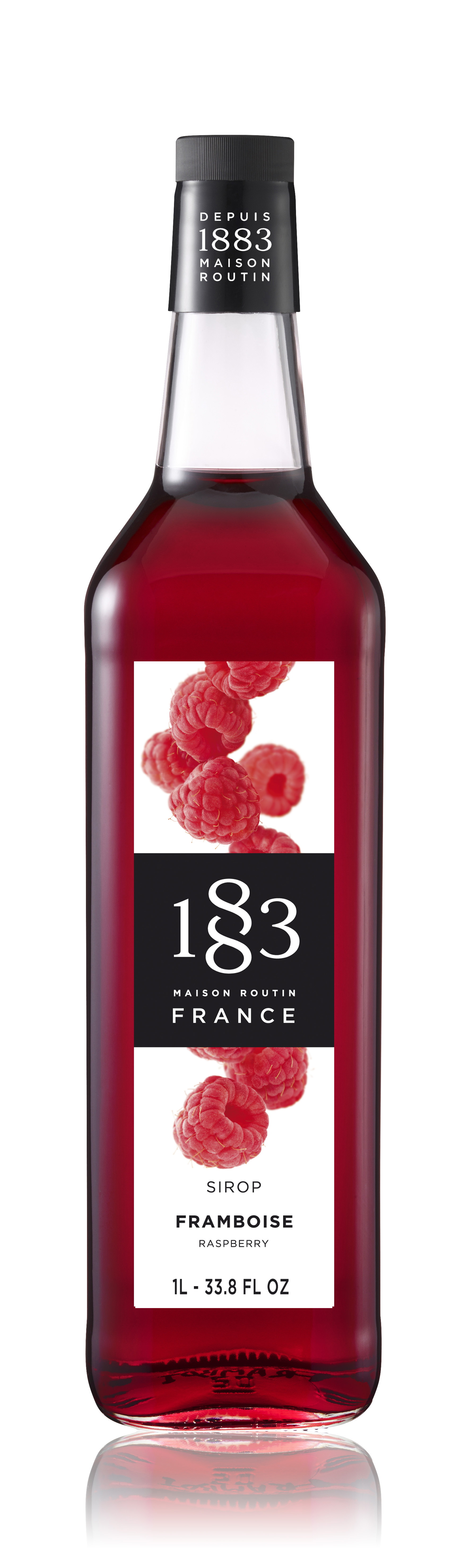 1883 Syrup Raspberry 1L Glass Bottle