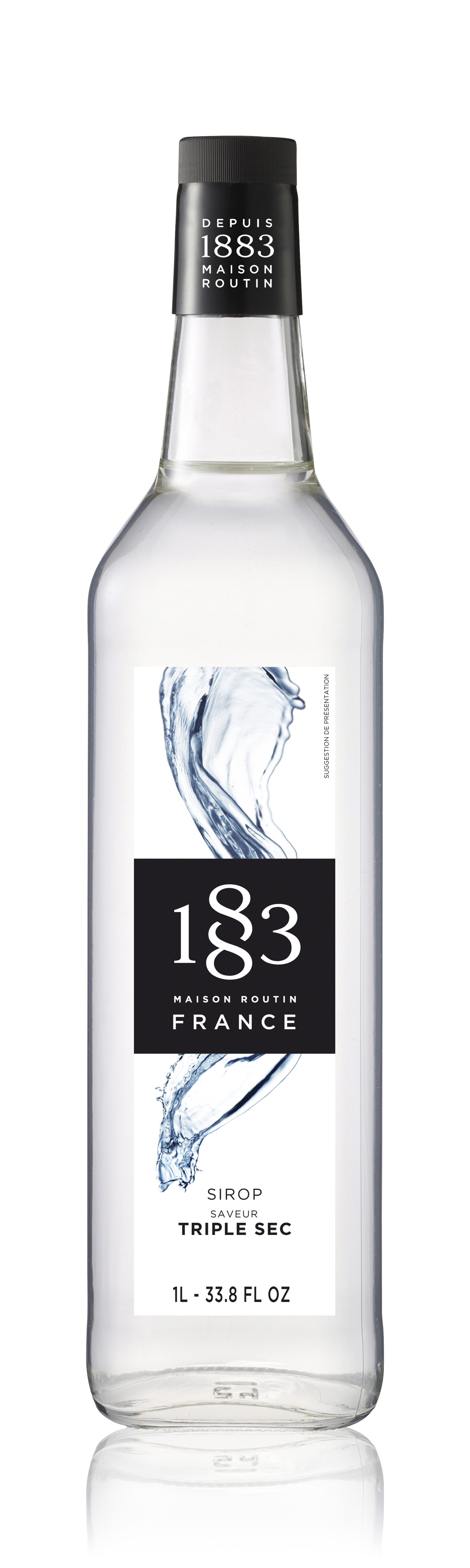 1883 Syrup Triple Sec 1L Glass Bottle