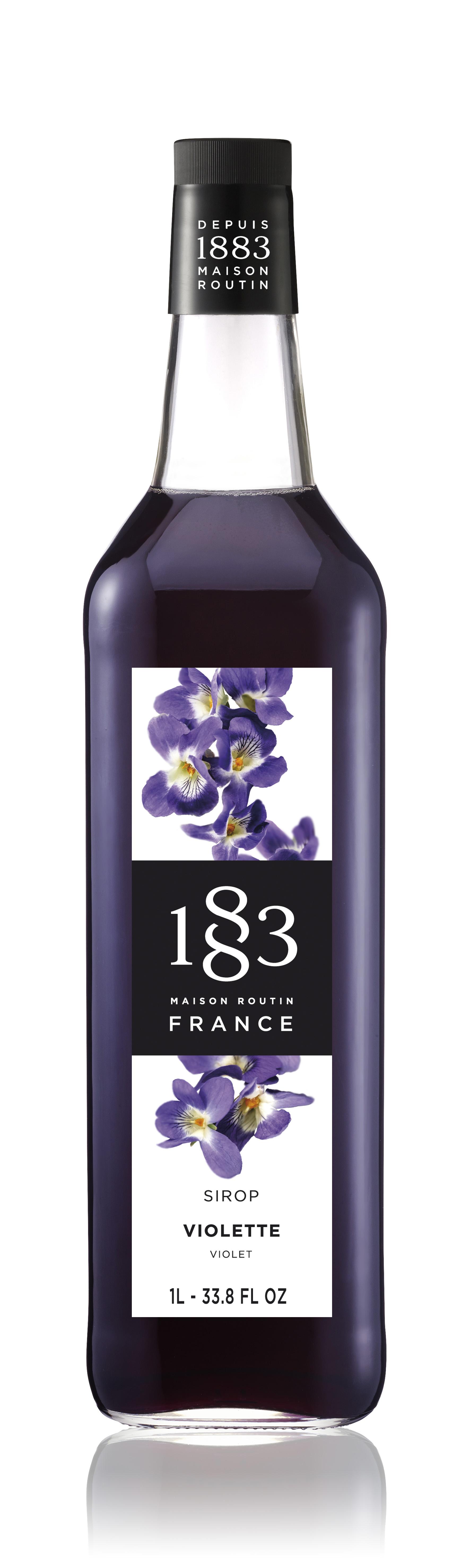 1883 Syrup Violet 1L Glass Bottle