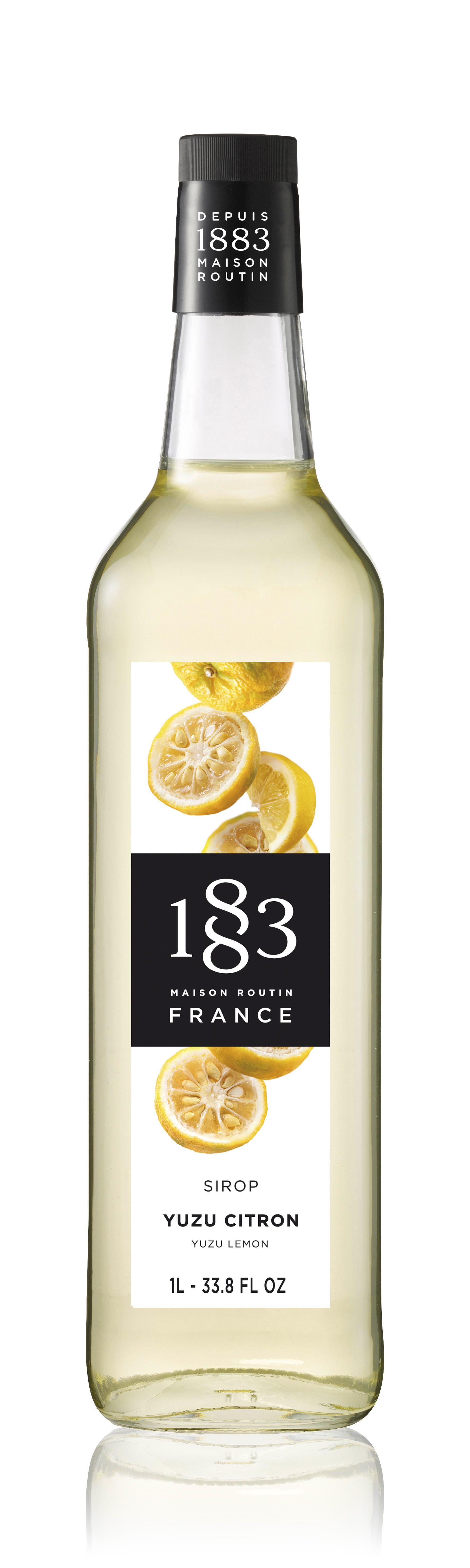 1883 Syrup Yuzu Lemon 1L Glass Bottle