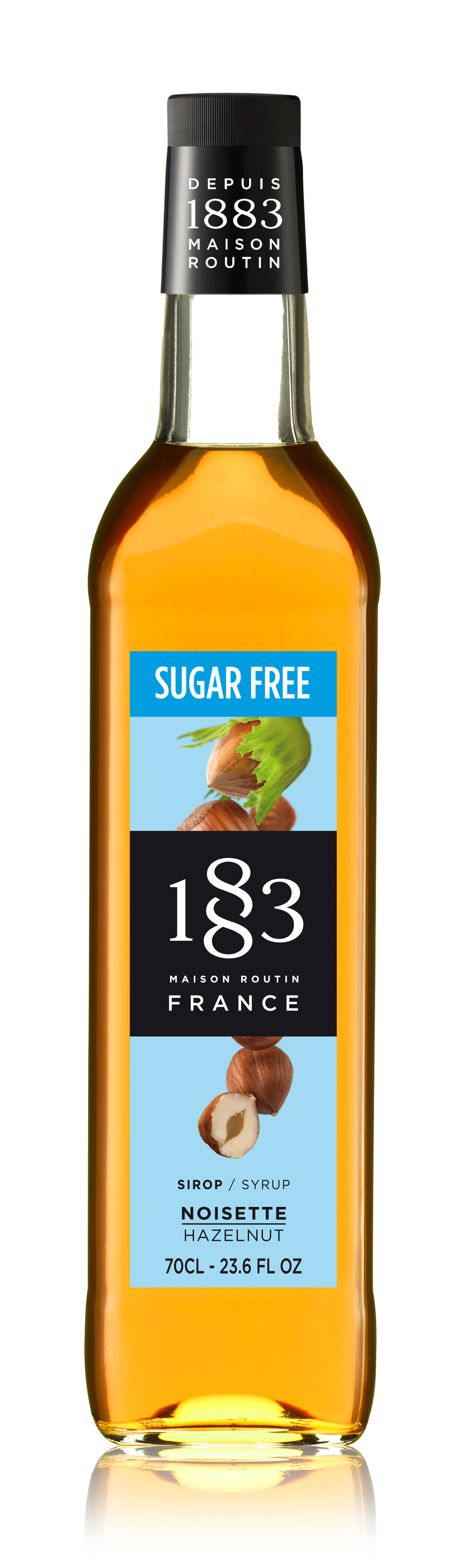 1883 Syrup Sugar Free Hazelnut 70cl Glass Bottle