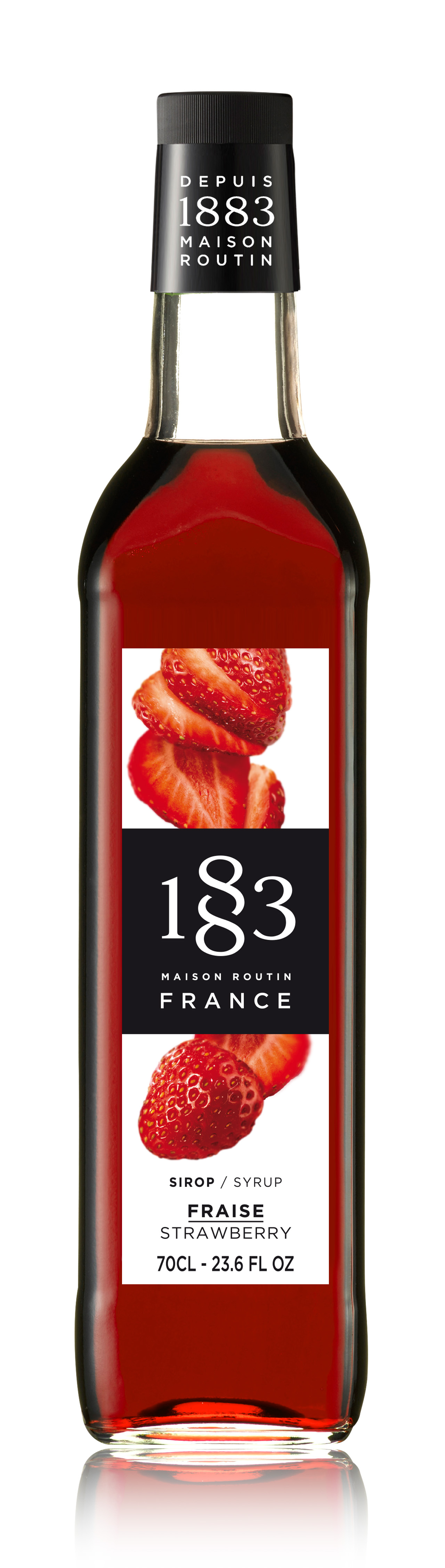 1883 Syrup Strawberry 70cl Glass Bottle