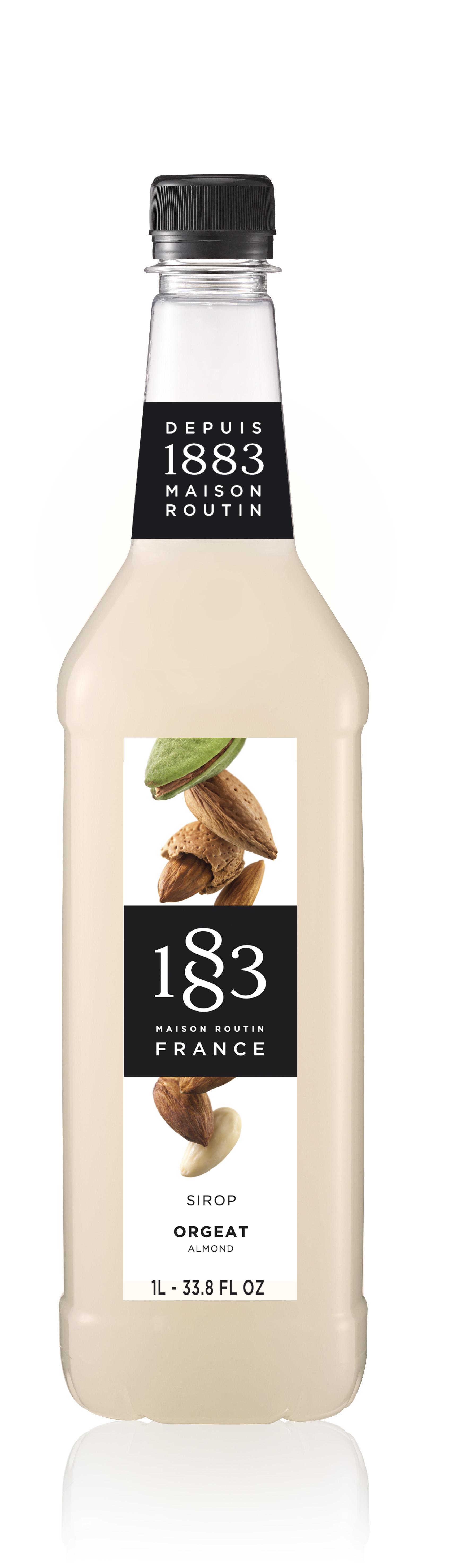 1883 Syrup Almond  1L PET Plastic Bottle