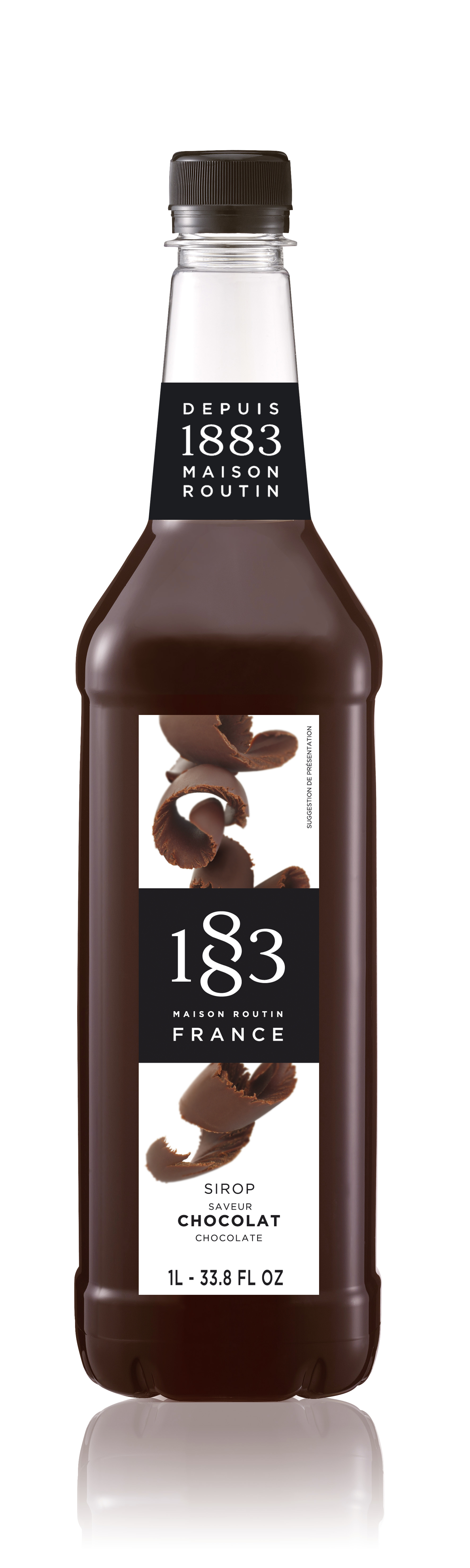 1883 Syrup Chocolate 1L PET Plastic Bottle