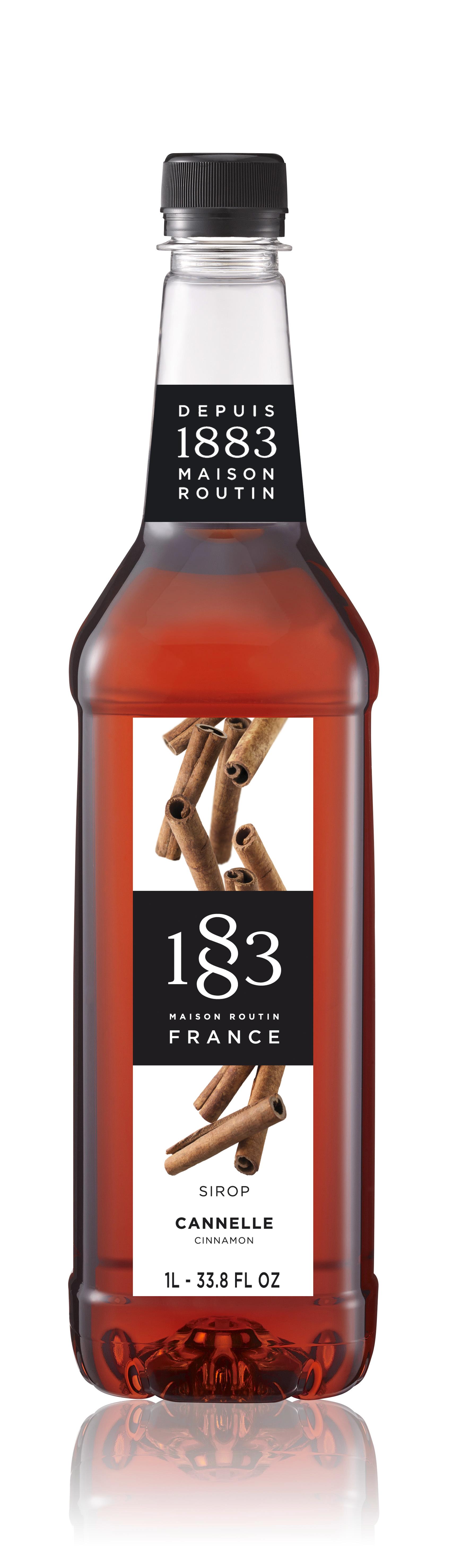 1883 Syrup Cinnamon 1L PET Plastic Bottle
