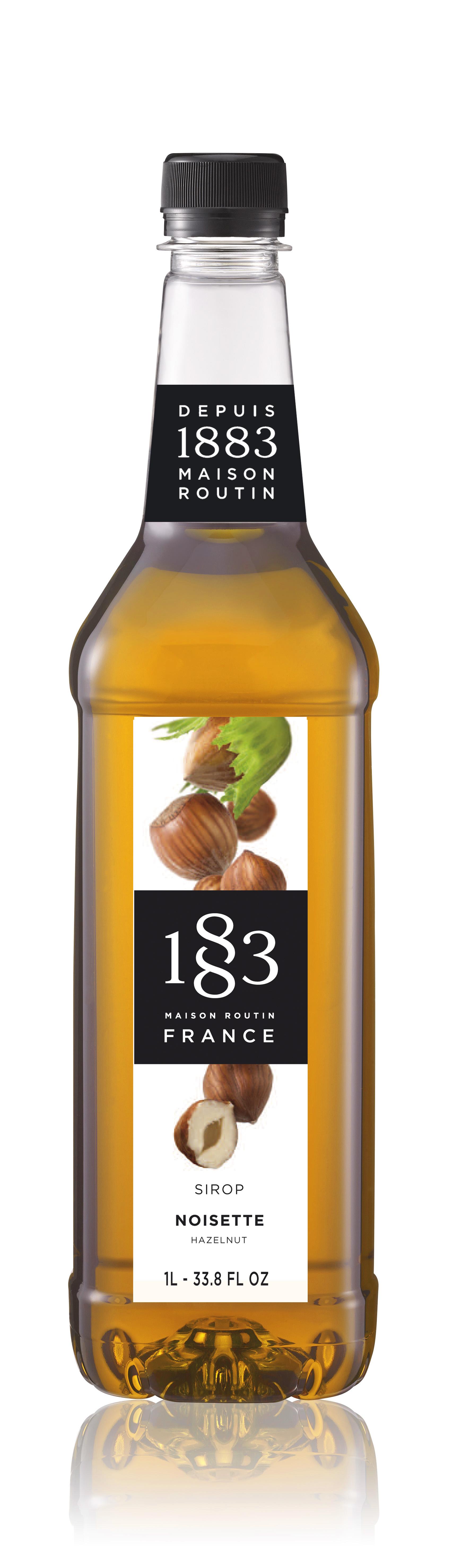 1883 Syrup Hazelnut  1L PET Plastic Bottle