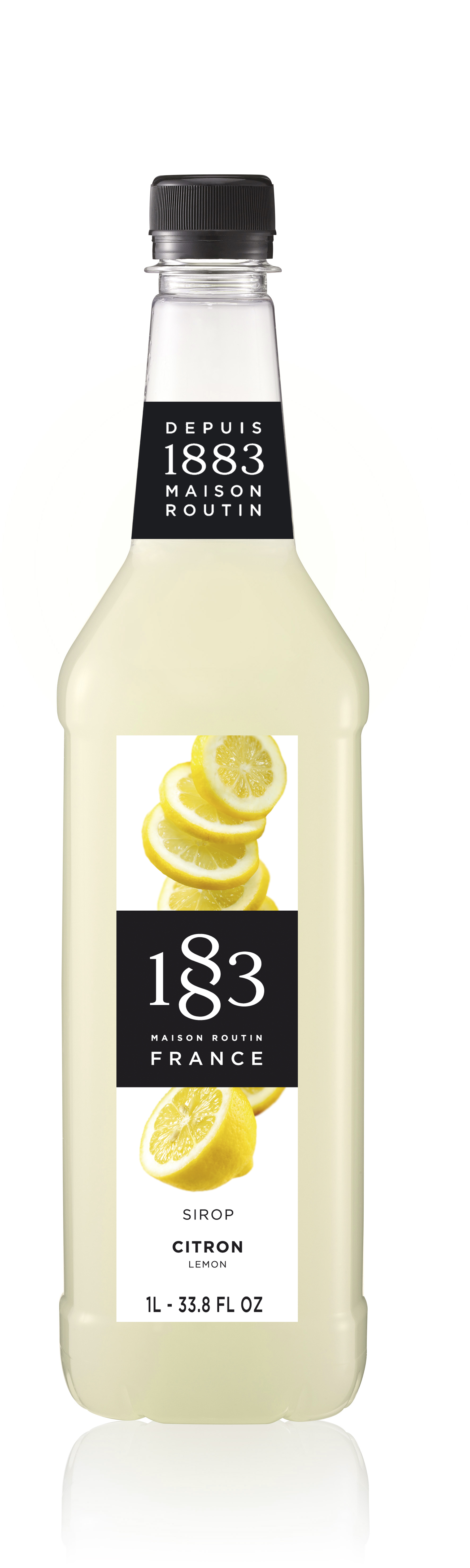 1883 Syrup Lemon 1L PET Plastic Bottle