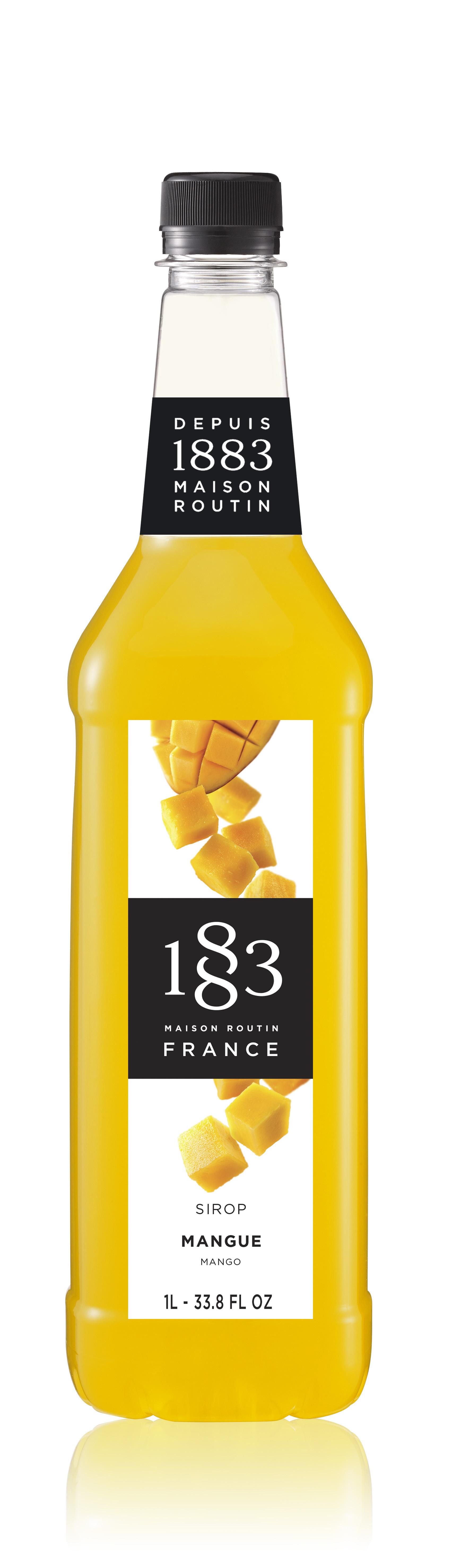 1883 Syrup Mango   1L PET Plastic Bottle