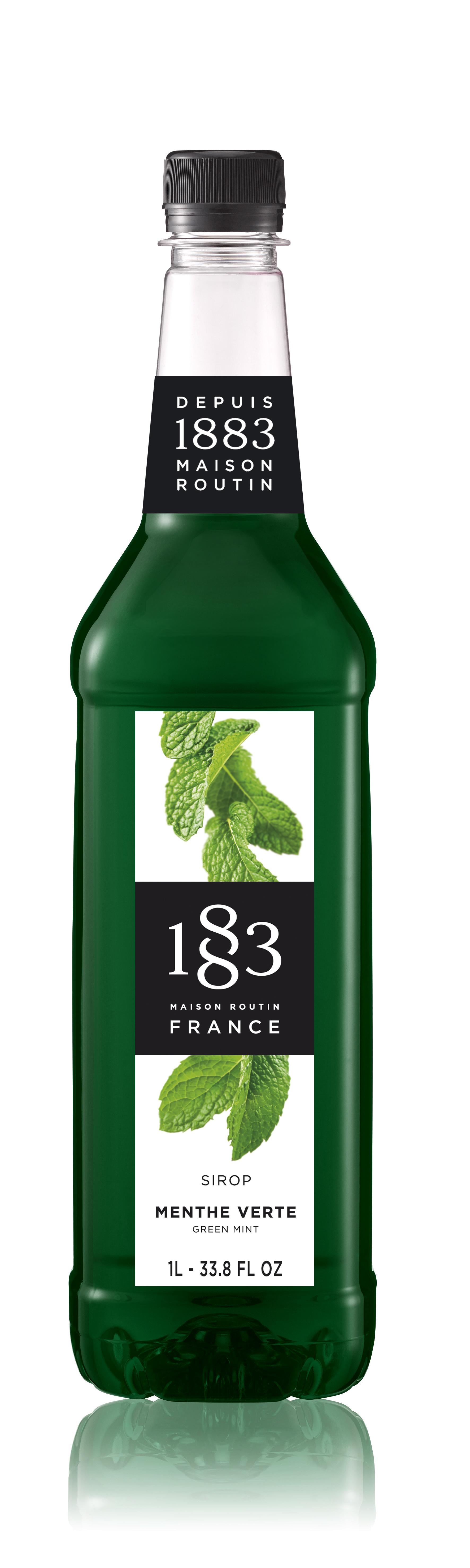 1883 Syrup Green Mint  1L PET Plastic Bottle