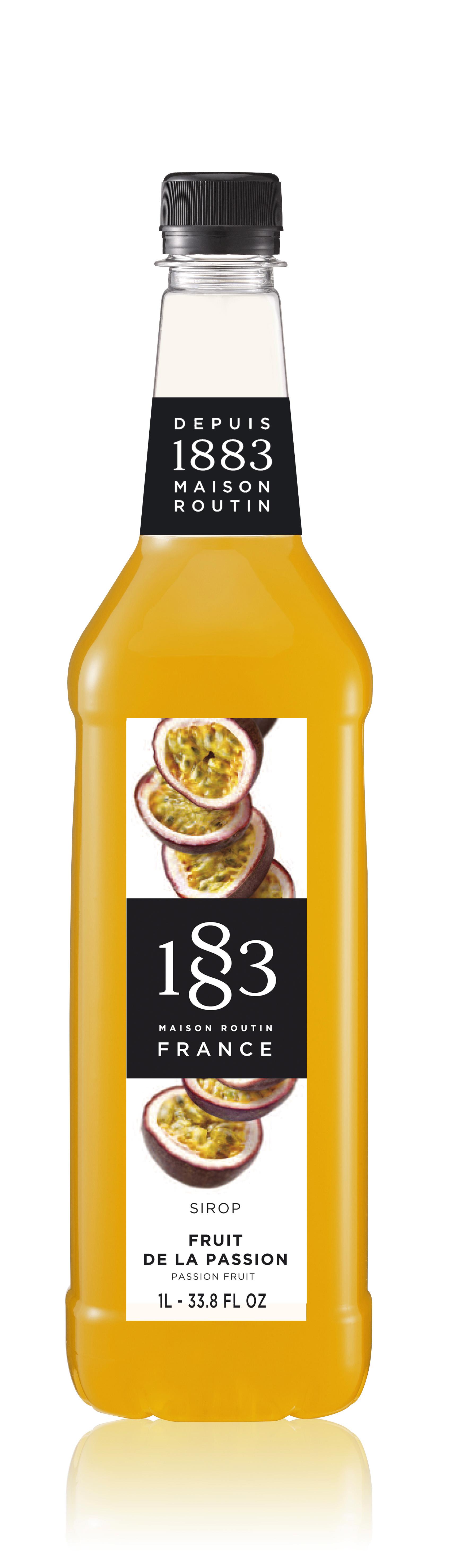 1883 Syrup Passion Fruit 1L PET Plastic Bottle