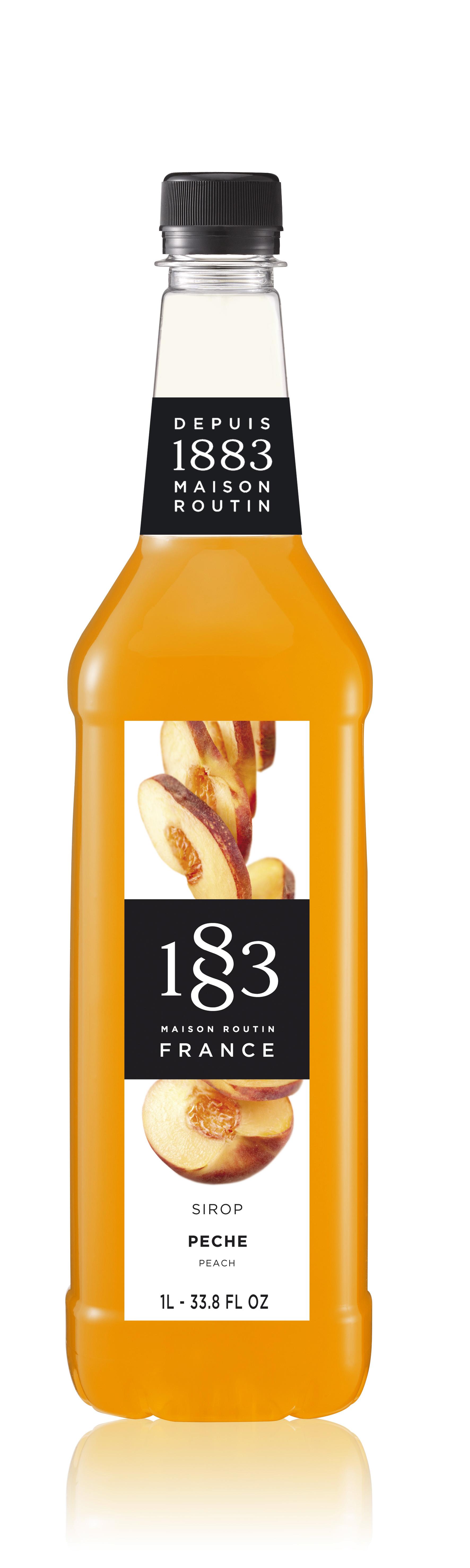 1883 Syrup Peach 1L PET Plastic Bottle