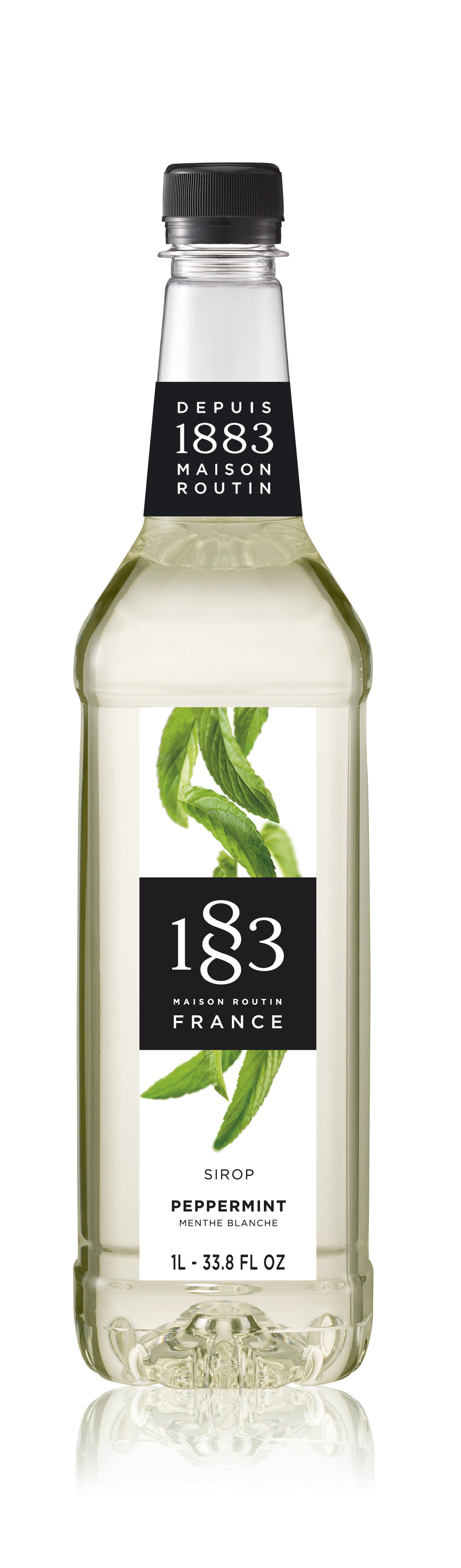 1883 Syrup Peppermint 1L PET Plastic Bottle