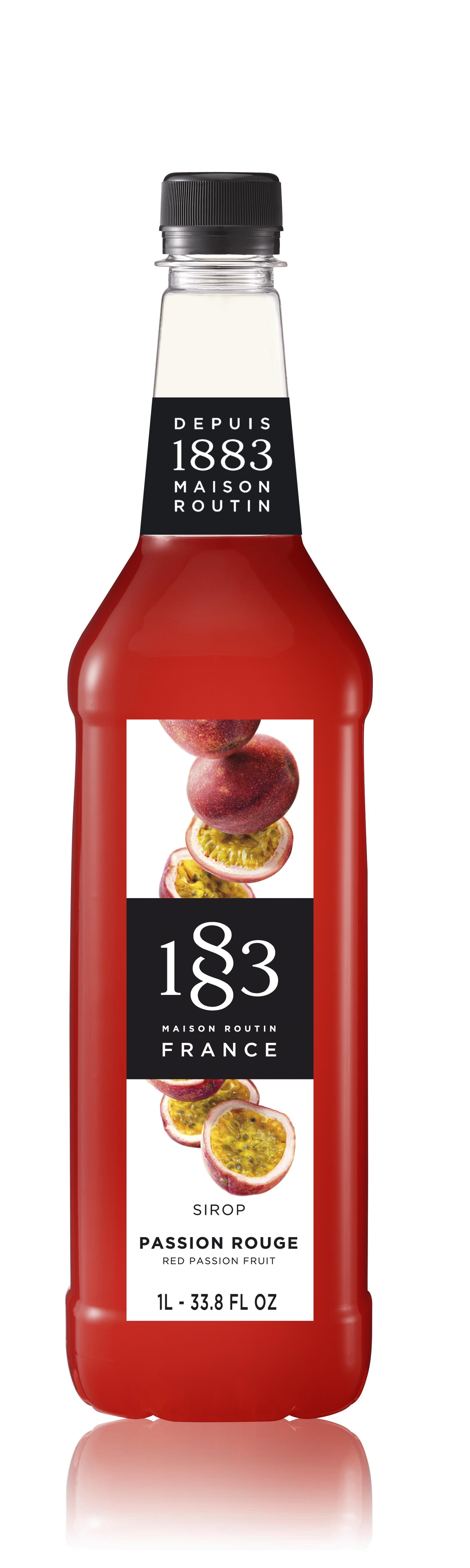 1883 Syrup Red Passion Fruit  1L PET Plastic Bottle