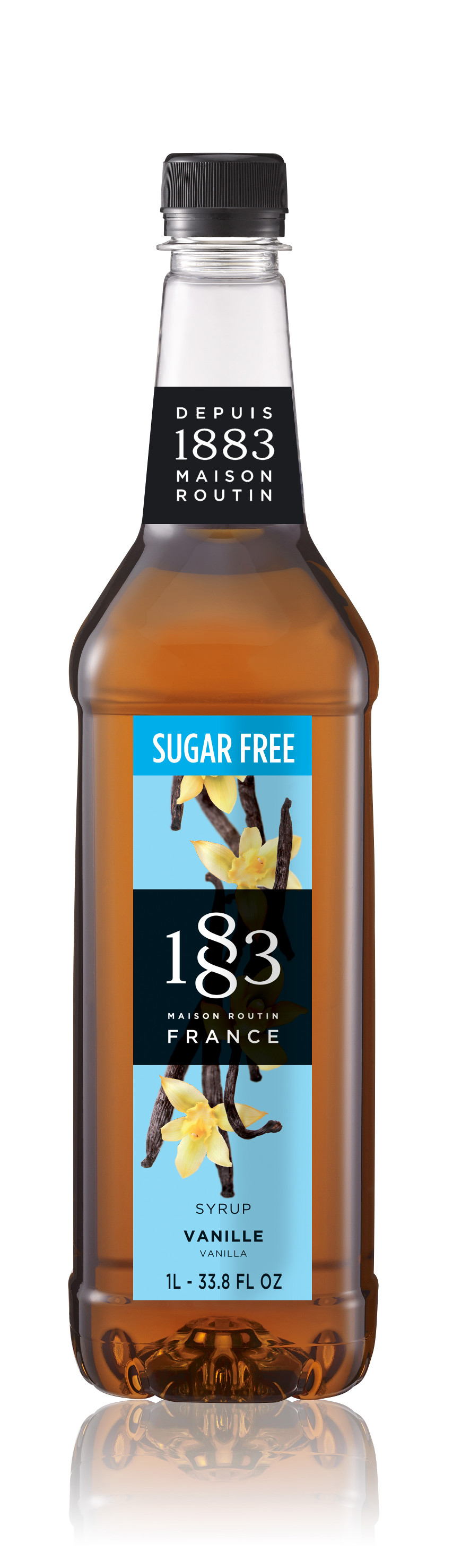 1883 Sugar Free Syrup Vanilla 1L PET Plastic Bottle