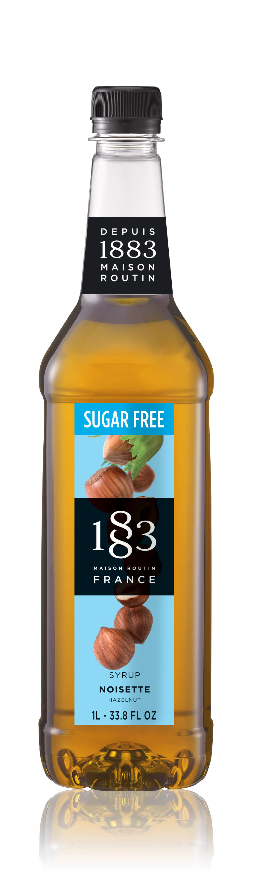 1883 Sugar Free Syrup Hazelnut  1L PET Plastic Bottle