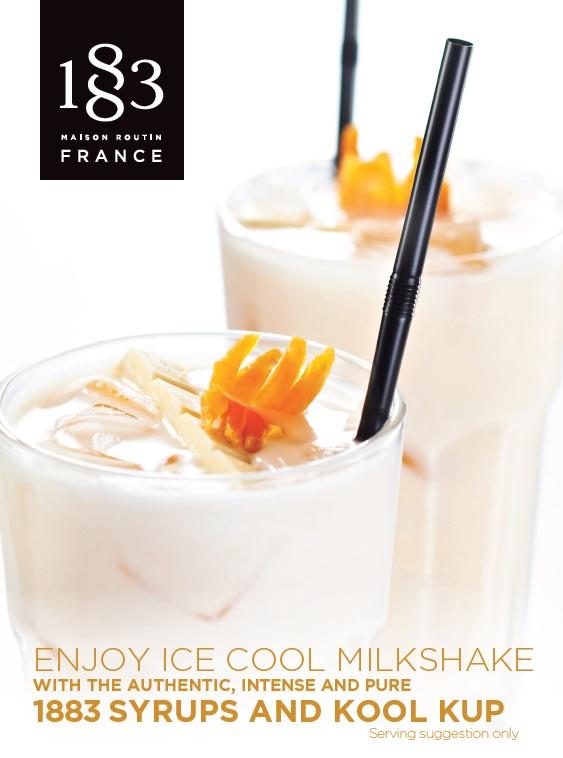 1883 Table Card Enjoy Ice Cool Milkshakes