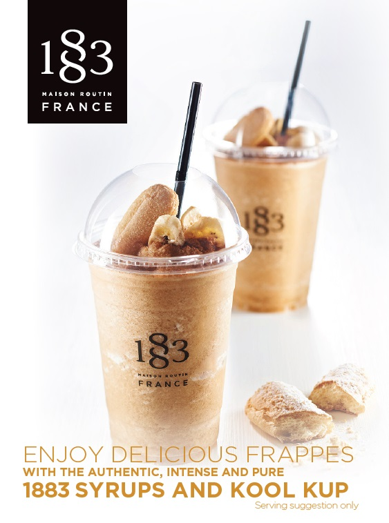 1883 Table Card Enjoy Delicious Frappes