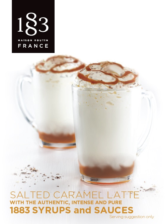 1883 Table Card Salted Caramel Latte