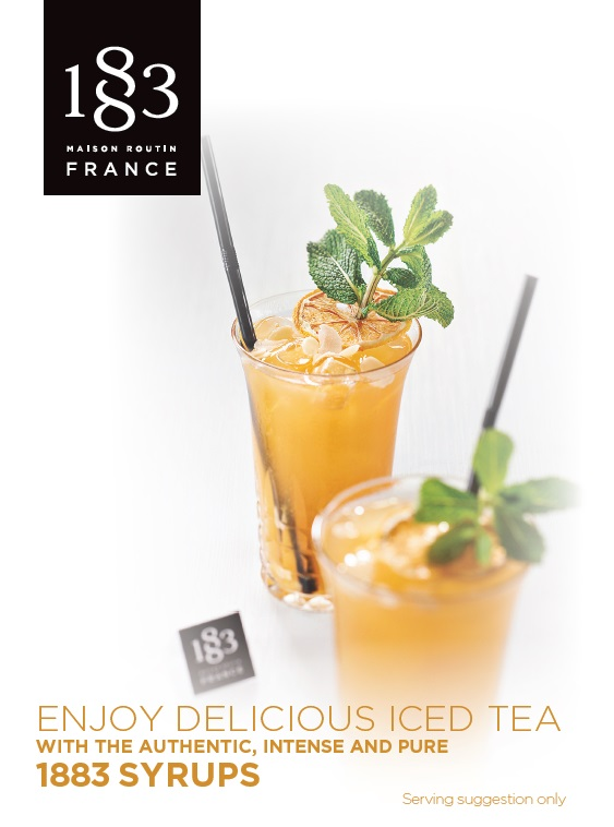 1883 Table Card Enjoy Delicious Iced Tea